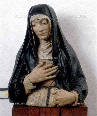 FIN-S-MGE000-0072 - Bust of a nun, work by Niccolò dell'Arca, conserved at the Galleria Estense in Modena - Reproduced with the permission of Ministero per i Beni e le Attività Culturali / Finsiel/Alinari Archives
