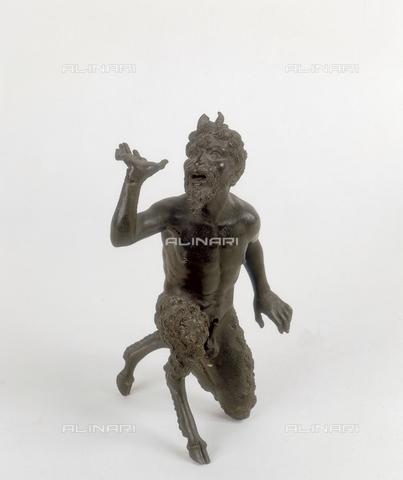 FIN-S-MGE000-0274 - Kneeling satyr, sculpture in bronze by Severo da Ravenna, conserved at the Galleria Estense in Modena - Reproduced with the permission of Ministero per i Beni e le Attività Culturali / Finsiel/Alinari Archives