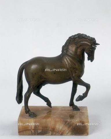 FIN-S-MGE000-293a - Horse, small bronze piece from the school of Jean de Boulogne, also known as Giambologna, conserved at the Galleria Estense in Modena - Reproduced with the permission of Ministero per i Beni e le Attività Culturali / Finsiel/Alinari Archives