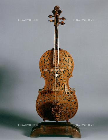 FIN-S-MGE000-313a - Cello, work by Domenico Galli, conserved at the Galleria Estense in Modena - Reproduced with the permission of Ministero per i Beni e le Attività Culturali / Finsiel/Alinari Archives