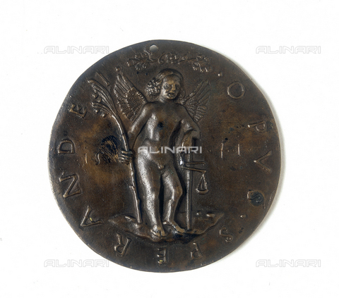 FIN-S-MGE000-358B - Medal depicting Sigismondo d'Este: verso, work by Sperandio Savelli, conserved at the Galleria Estense in Modena - Reproduced with the permission of Ministero per i Beni e le Attività Culturali / Finsiel/Alinari Archives