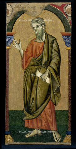FIN-S-PG0000-0002 - St. Matthew, 1262-1272, tempera on panel, Master of Saint Francis (XIII century), Galleria Nazionale dell'Umbria, Perugia - Reproduced with the permission of Ministero per i Beni e le Attività Culturali / Finsiel/Alinari Archives