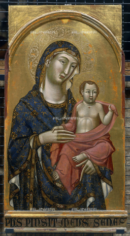 FIN-S-PG0000-0022 - Madonna and Child panel Altarpiece Montelabate, Meo da Siena, National Gallery of Umbria, Perugia - Reproduced with the permission of Ministero per i Beni e le Attività Culturali / Finsiel/Alinari Archives