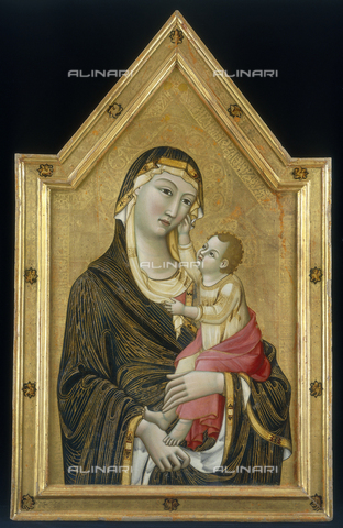 FIN-S-PG0000-0028 - Madonna and Child, 1325-1330, tempera on panel, 130 x 82 cm, Meo di Guido da Siena, Galleria Nazionale dell'Umbria, Perugia - Reproduced with the permission of Ministero per i Beni e le Attività Culturali / Finsiel/Alinari Archives