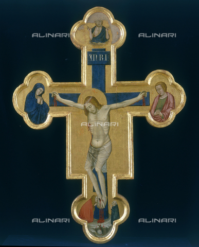 FIN-S-PG0000-0031 - Painted Cross (front), Meo da Siena, National Gallery of Umbria, Perugia - Reproduced with the permission of Ministero per i Beni e le Attività Culturali / Finsiel/Alinari Archives