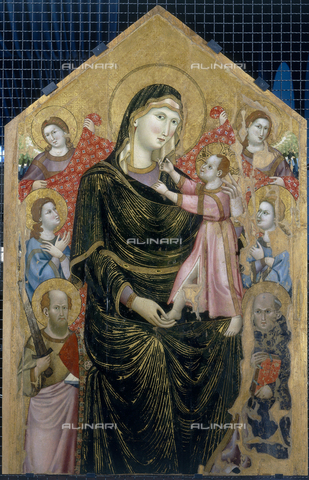 FIN-S-PG0000-0032 - Majesty with Saints Paul and Benedict, Marino of Perugia, National Gallery of Umbria, Perugia - Reproduced with the permission of Ministero per i Beni e le Attività Culturali / Finsiel/Alinari Archives