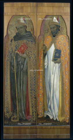 FIN-S-PG0000-0044 - Saint Francis and Saint Ambrose (detail of an altarpiece), Taddeo di Bartolo (1362ca.-1422), National Gallery of Umbria, Perugia - Reproduced with the permission of Ministero per i Beni e le Attività Culturali / Finsiel/Alinari Archives