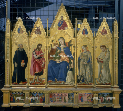 FIN-S-PG0000-0051 - Polyptych of St. Giuliana, tempera on panel, Domenico di Bartolo Ghezzi (c. 1400 - 1445), Galleria Nazionale dell'Umbria, Perugia - Finsiel/Alinari Archives