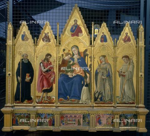 FIN-S-PG0000-0051 - Madonna col Bambino e santi, Polittico di Santa Giuliana, Domenico di Bartolo (1400 ca.-1445), Chiesa di Santa Giuliana, Perugia - Finsiel/Archivi Alinari