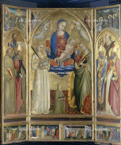 FIN-S-PG0000-0063 - Pala of St. Agnes, polyptych, tempera on panel, Bicci di Lorenzo (1373-1452), Galleria Nazionale dell'Umbria, Perugia - Reproduced with the permission of Ministero per i Beni e le Attività Culturali / Finsiel/Alinari Archives
