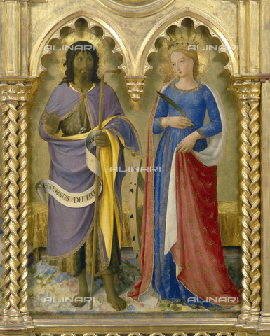 FIN-S-PG0000-0077 - St. John the Baptist and St. Catherine of Alexandria, especially the Altarpiece of the Dominicans, Piero della Francesca (1416-1492), National Gallery of Umbria, Perugia - Reproduced with the permission of Ministero per i Beni e le Attività Culturali / Finsiel/Alinari Archives