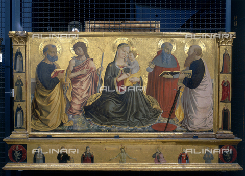 FIN-S-PG0000-0093 - Pala della Sapienza Nuova depicting Madonna with Child and Saints, tempera on panel, Benozzo Gozzoli (1421-1497), Galleria Nazionale dell'Umbria, Perugia - Reproduced with the permission of Ministero per i Beni e le Attività Culturali / Finsiel/Alinari Archives