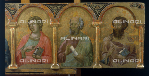 FIN-S-PG0000-022C - Saints, detail of Montelabate Altarpiece, Meo da Siena, National Gallery of Umbria, Perugia - Reproduced with the permission of Ministero per i Beni e le Attività Culturali / Finsiel/Alinari Archives