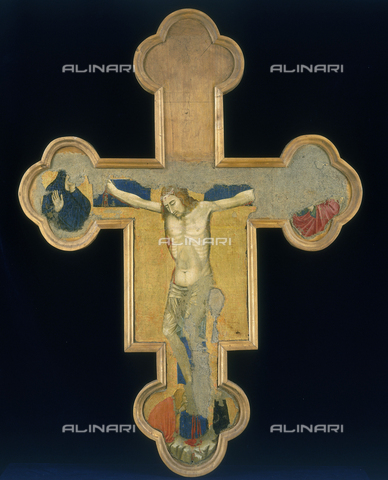 FIN-S-PG0000-031A - Painted Cross (verse), Meo da Siena, National Gallery of Umbria, Perugia - Reproduced with the permission of Ministero per i Beni e le Attività Culturali / Finsiel/Alinari Archives