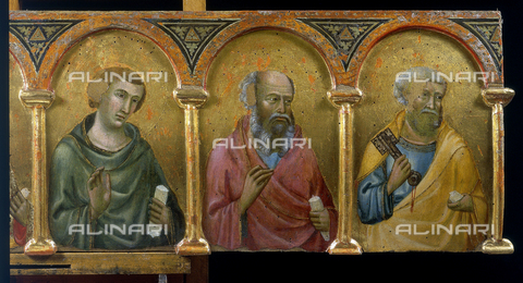 FIN-S-PG0000-22D2 - Saints, detail of Polyptych of Montelabate, Meo da Siena, National Gallery of Umbria, Perugia - Reproduced with the permission of Ministero per i Beni e le Attività Culturali / Finsiel/Alinari Archives
