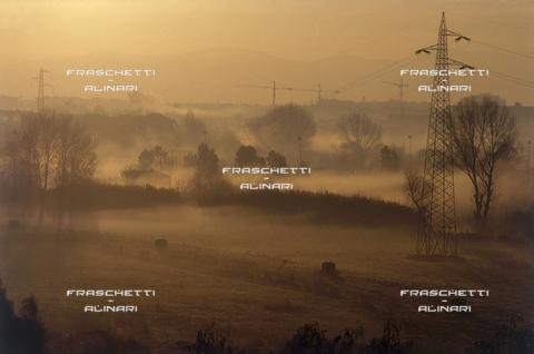 """FMA-F-001258-0000 - Roma: Alba con Nebbia â?"""" Parco Aniene"""