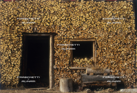 FMA-F-001264-0000 - Sappada (Veneto): una legnaia durante l'inverno