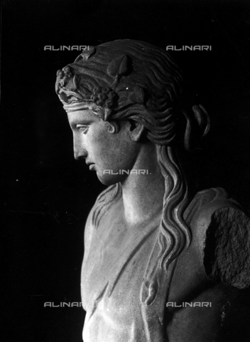 FPA-F-002721-0000 - Bust of Dionysus (Roman copy of a 4th century B.C. Greek original), marble, National Archaeological Museum, Venice - Date of photography: 1940 ca. - Alinari Archives-Fiorentini Archive, Florence