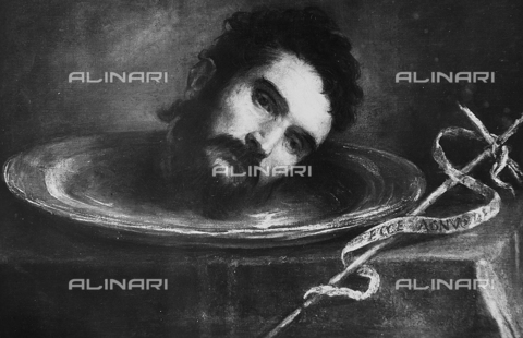 FPA-F-002863-0000 - Head of St John the Baptist, oil on canvas, Titian (1485 ca.-1576), Brass Collection, Venice - Date of photography: 1945 ca. - Alinari Archives-Fiorentini Archive, Florence