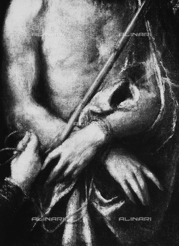 FPA-F-003310-0000 - Ecce Homo (detail), oil on canvas, Titian (1485 ca.-1576), Private Collection in Venice, today in the Saint Louis Art Museum, St. Louis, Missouri, USA - Date of photography: 1945 ca. - Alinari Archives-Fiorentini Archive, Florence