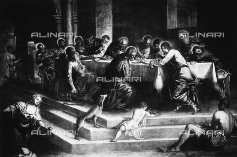 FPA-F-003788-0000 - The Last Supper, oil on canvas, Jacopo Robusti said Tintoretto (1518-1594), Church of S. Stefano, Venice - Date of photography: 1945 ca. - Alinari Archives-Fiorentini Archive, Florence