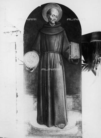 FPA-F-003866-0000 - St. Bernardino, tempera on panel, Church of San Francesco della Vigna, Venice - Date of photography: 1945 ca. - Alinari Archives-Fiorentini Archive, Florence
