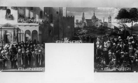FPA-F-003871-0000 - Martyrdom of St. Mark, oil on canvas, Vittore Belliniano (1456 ca.-1529), Scuola Grande di San Marco, Venice - Date of photography: 1940 ca. - Alinari Archives-Fiorentini Archive, Florence