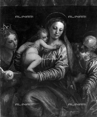 FPA-F-004427-0000 - Madonna and Child with Saints Catherine and Peter, oil on canvas, Paolo Caliari called Veronese (1528-1588), Civic Museum, Vicenza - Date of photography: 1945 ca. - Alinari Archives-Fiorentini Archive, Florence