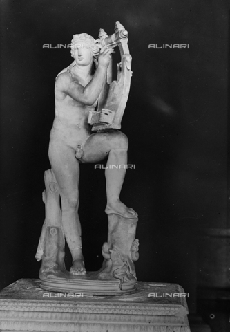 FPA-F-004756-0000 - Apollo, marble, National Archaeological Museum, Venice - Date of photography: 1940 ca. - Alinari Archives-Fiorentini Archive, Florence