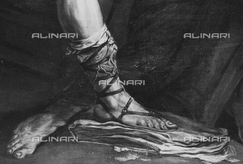 FPA-F-007770-0000 - The killing of Archimedes (detail), oil on canvas, Giovan Battista Langetti (1625-1676), Private Collection, Venice - Date of photography: 1950 ca. - Alinari Archives-Fiorentini Archive, Florence