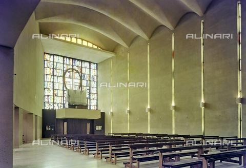 FVA-S-260000-0023 - Chiesa di San Lorenzo Giustiniani, interno, Mestre, Venezia - Data dello scatto: 1961 - Archivi Alinari, Firenze