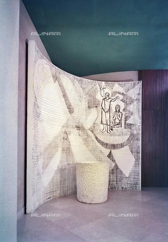 FVA-S-260000-0027 - Chiesa di San Lorenzo Giustiniani, interno, Mestre, Venezia - Data dello scatto: 1961 - Archivi Alinari-donazione Ferruzzi, Firenze