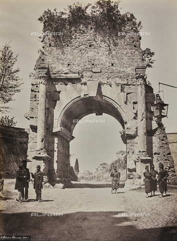 FVQ-F-007066-0000 - Arco di Druso a Roma - Data dello scatto: 1870 ca. - Archivi Alinari, Firenze