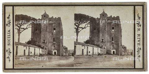 FVQ-F-012063-0000 - View of Zisa Castle in Palermo. Stereoscopic image - Data dello scatto: 1870-1880 - Archivi Alinari, Firenze