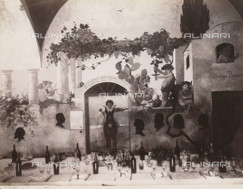 FVQ-F-013287-0000 - Hotel Pagano's restaurant, Capri - Date of photography: 1870-1880 - Fratelli Alinari Museum Collections, Florence