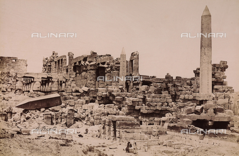 FVQ-F-015902-0000 - Il complesso templare dedicato al dio Amon-Ra presso Karnak, nell'Alto Egitto - Data dello scatto: 1880 ca. - Raccolte Museali Fratelli Alinari (RMFA), Firenze