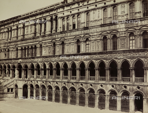 FVQ-F-023735-0000 - The façade of the Palazzo Ducale seen from the courtyard, Venice - Data dello scatto: 1865-1875 - Archivi Alinari, Firenze