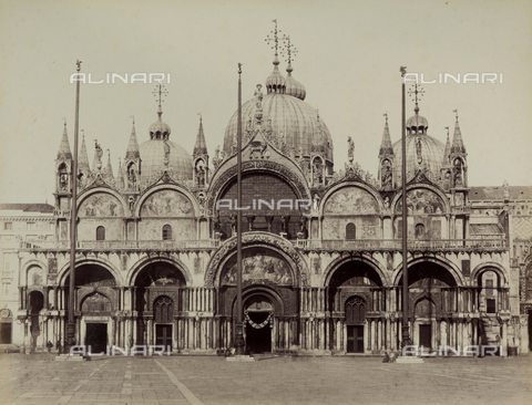 FVQ-F-023750-0000 - Façade of the Basilica of San Marco in Venice - Data dello scatto: 1865-1875 - Archivi Alinari, Firenze