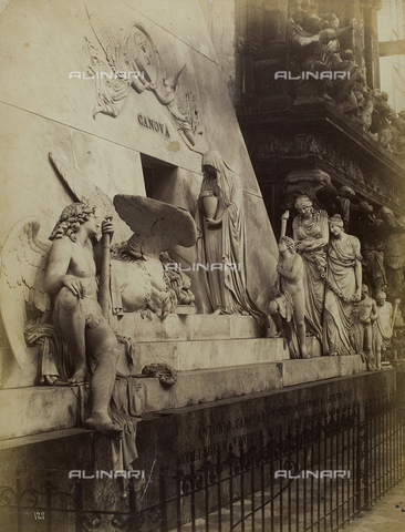 FVQ-F-024684-0000 - Funeral monument of Antonio Canova, marble, Church of Santa Maria Gloriosa dei Frari, Venice - Data dello scatto: 1865-1875 - Archivi Alinari, Firenze