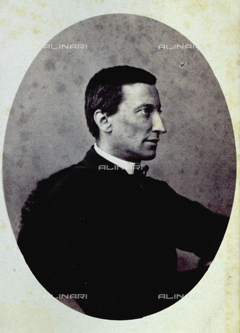 FVQ-F-027506-0000 - Half-length portrait, in profile, of the French cardinal Saverio Mérode. Nominated Minister of Defence in 1860 by Pius IX, he tried to organize an Army of Catholics and Legitimists who could defend the Papal State - Data dello scatto: 1860 - 1865 ca. - Archivi Alinari, Firenze