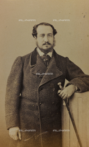 FVQ-F-027679-0000 - Portrait of a French literary man; carte de visite - Data dello scatto: 1870-1890 - Archivi Alinari, Firenze