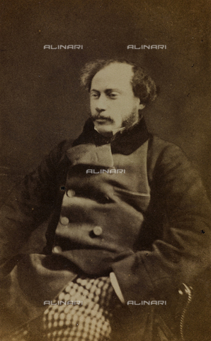 FVQ-F-027706-0000 - Portrait of Alexandre Dumas fils, French writer and dramatist; carte de visite - Data dello scatto: 1850-1860 - Archivi Alinari, Firenze