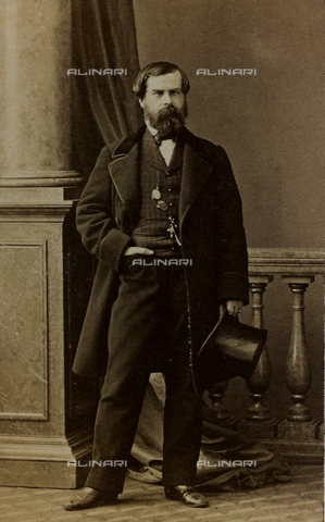 FVQ-F-027788-0000 - Portrait of Charles Albert d'Arnoux, known as Bertall, French illustrator and engraver; carte de visite - Data dello scatto: 1855-1865 - Archivi Alinari, Firenze