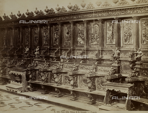 FVQ-F-032133-0000 - Glimpse of the wood choir in the Church of San Giorgio Maggiore, Venice - Data dello scatto: 1865-1875 - Archivi Alinari, Firenze