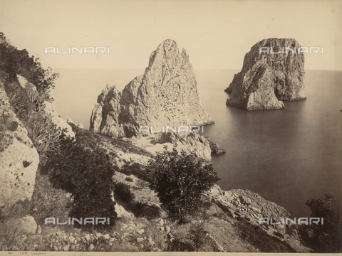 FVQ-F-033573-0000 - The faraglioni of Capri - Date of photography: 1870-1880 - Fratelli Alinari Museum Collections, Florence