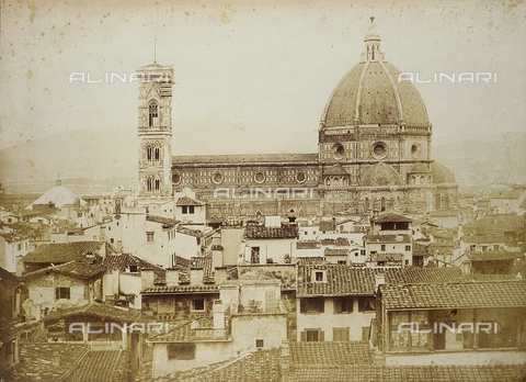 FVQ-F-034349-0000 - Side view of the Duomo of Santa Maria del Fiore  in Florence - Date of photography: 1855 ca. - Fratelli Alinari Museum Collections, Florence
