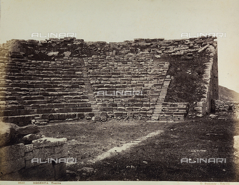 FVQ-F-035310-0000 - Segesta: partial view of the Theatre - Data dello scatto: 1885 ca. - Archivi Alinari, Firenze