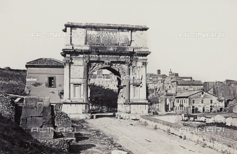 FVQ-F-036367-0000 - L'arco di Tito nel Foro Romano, a Roma - Data dello scatto: 1865 ca. - Raccolte Museali Fratelli Alinari (RMFA), Firenze