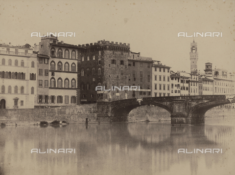 FVQ-F-036386-0000 - Ponte Santa Trinita and the Palazzo Spini Ferroni, Florence - Data dello scatto: 1865-1870 - Archivi Alinari, Firenze