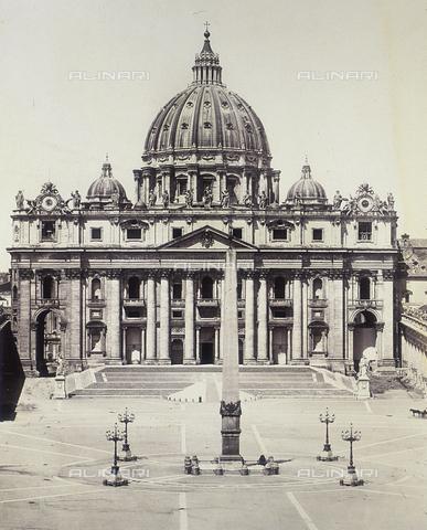 FVQ-F-036613-0000 - Facciata della Basilica di San Pietro, Città del Vaticano - Data dello scatto: 1855 ca. - Raccolte Museali Fratelli Alinari (RMFA), Firenze
